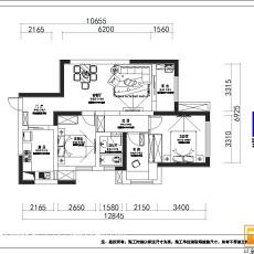 古典中式风格三室两厅装修效果图欣赏