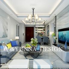 74平米二居客厅现代装修图