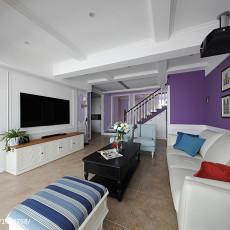典雅64平美式复式客厅设计案例