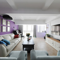 优美83平美式复式客厅效果图欣赏