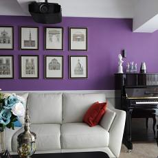 优雅70平美式复式客厅布置图