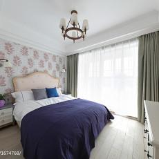 温馨68平美式复式卧室装饰美图