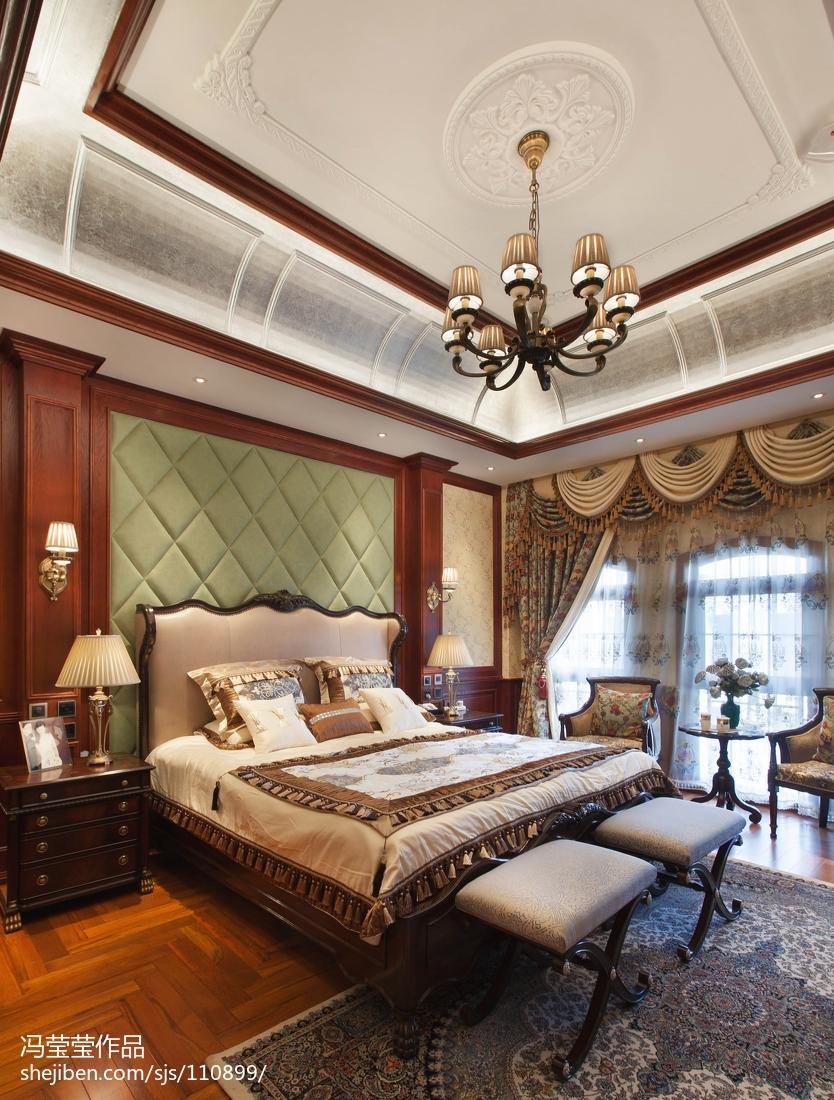 精选120平米美式别墅卧室装修图片大全