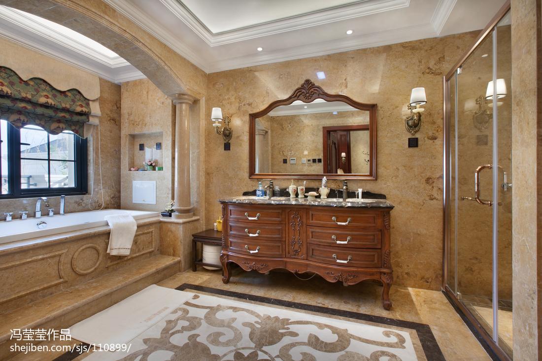 精致984平美式別墅衛生間圖片大全