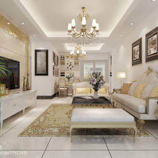 中式风格三室一厅装修效果图欣赏