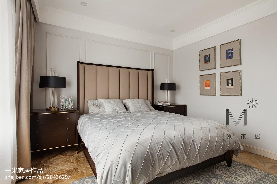 温馨111平美式三居卧室效果图片大全
