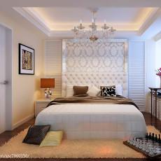 201880平米二居卧室现代装修效果图