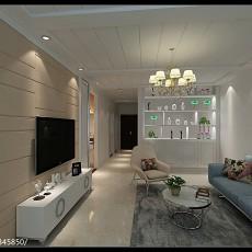 热门86平米二居客厅现代效果图片欣赏