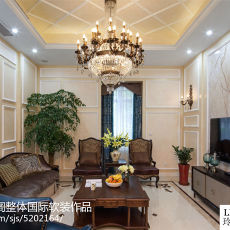 2018精选大小140平别墅客厅欧式设计效果图