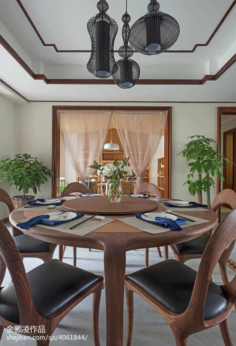 热门面积137平中式四居餐厅装修设计效果图片欣赏