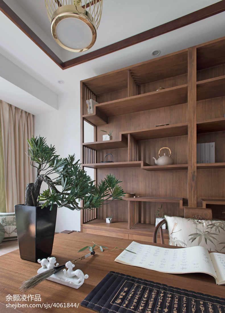 温馨140平中式四居书房装修图片