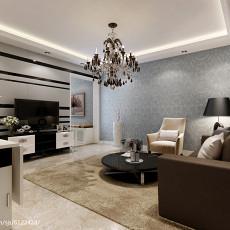 精选面积77平简约二居客厅实景图片欣赏