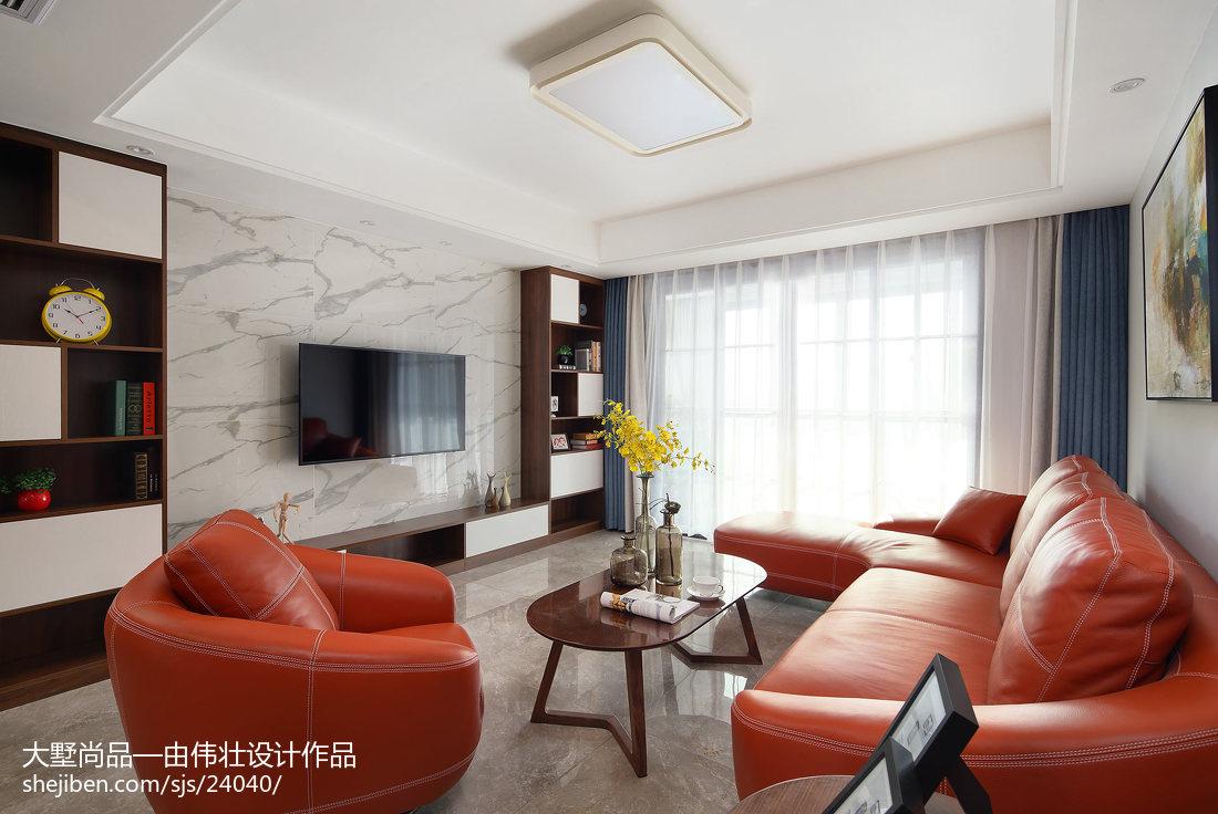 2018面积71平简约二居客厅装修设计效果图片