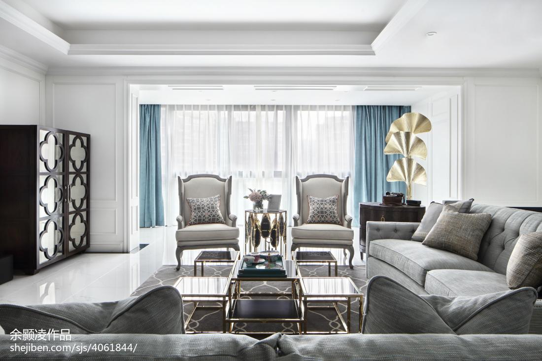 精选大小127平混搭四居客厅装修实景图