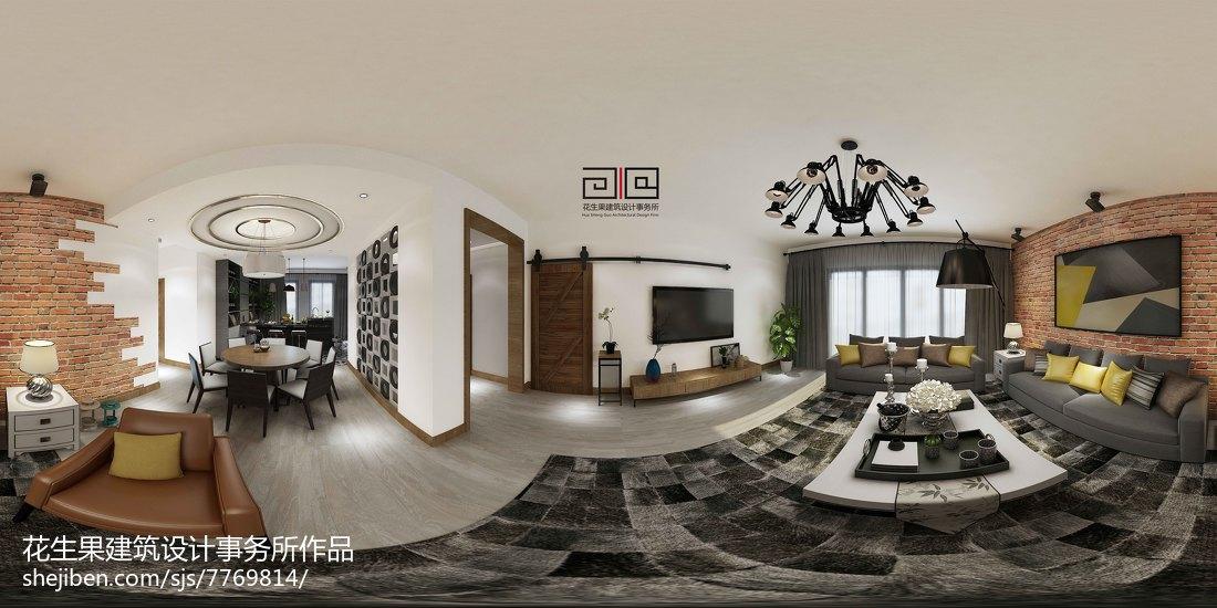 热门106平米三居美式装修效果图片欣赏