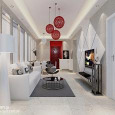 雪白摩登新中式客厅设计