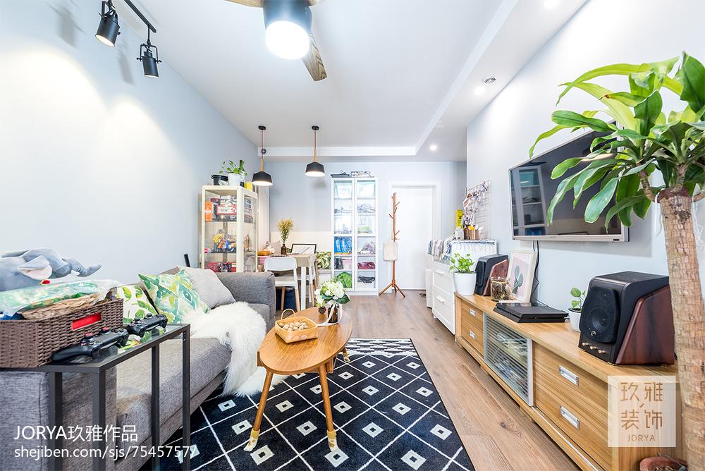 优美60平北欧二居客厅装饰美图
