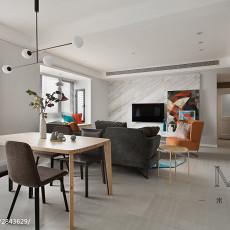热门103平米三居餐厅现代装修设计效果图片欣赏