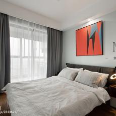 轻奢73平现代三居卧室装修设计图