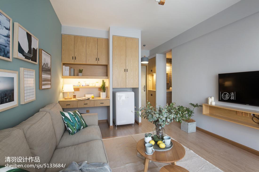 2018精選面積88平小戶型客廳北歐效果圖
