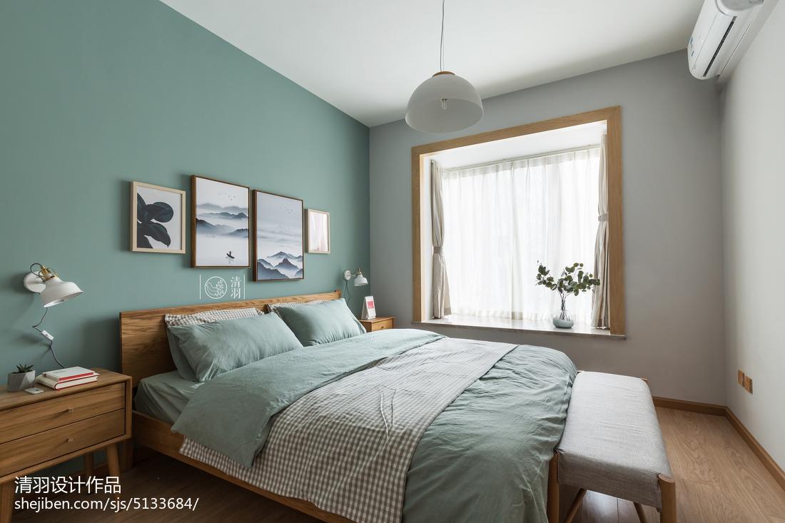 质朴26平北欧小户型卧室实拍图