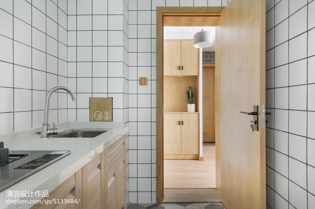 精選76平米北歐小戶型廚房裝飾圖片