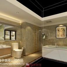 热门面积95平现代三居卫生间装修欣赏图
