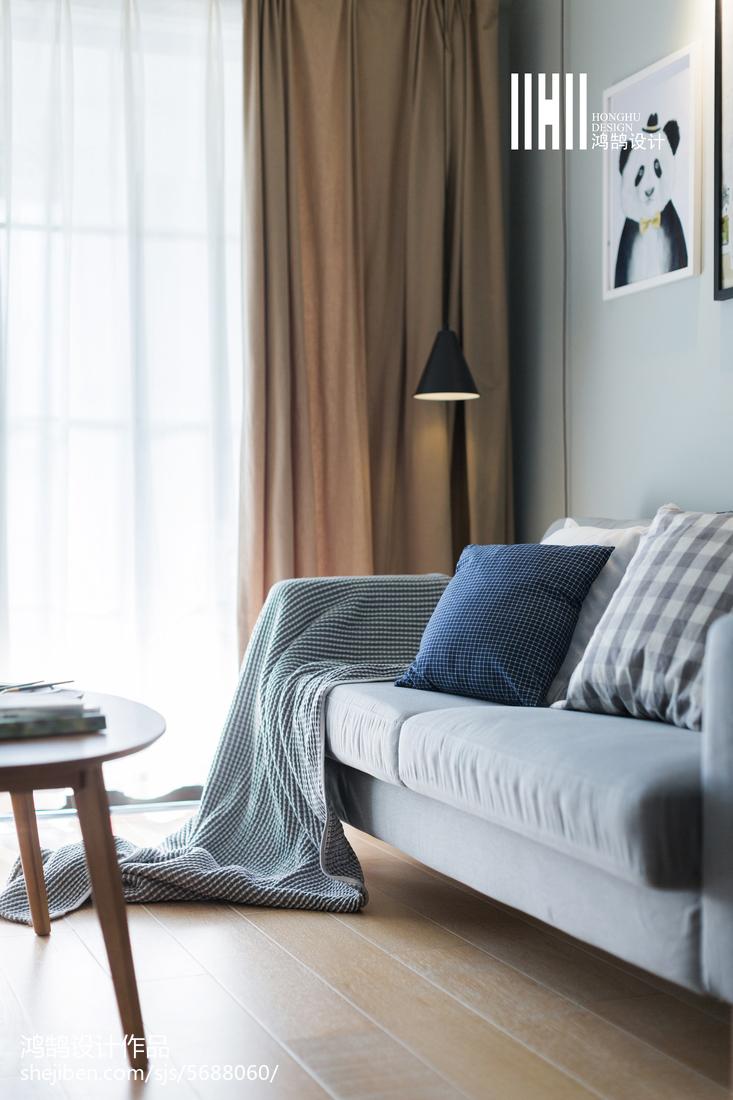 精美二居客厅北欧装修图片欣赏