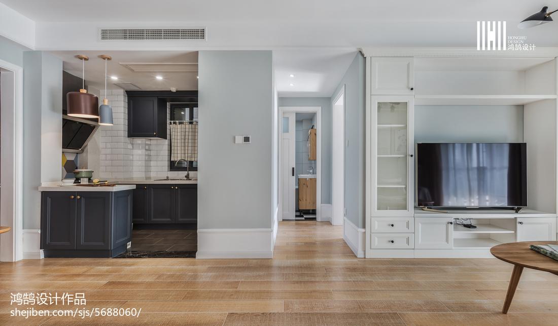 2018精选大小80平北欧二居客厅装修设计效果图片欣赏