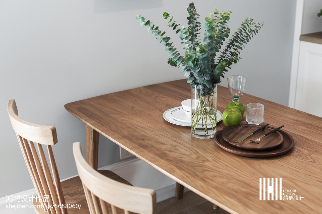热门面积87平北欧二居餐厅装修设计效果图