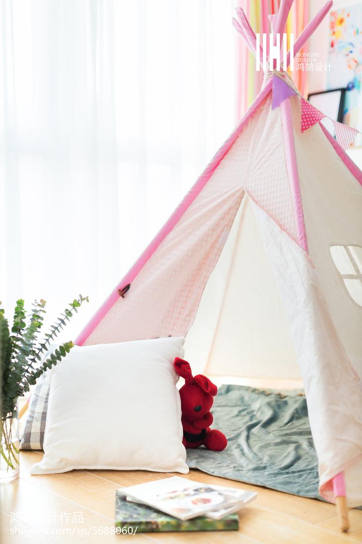 热门面积84平北欧二居儿童房装修效果图片欣赏