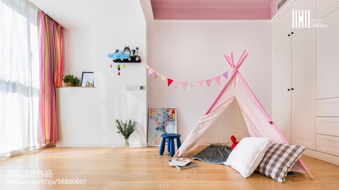 精选77平米二居儿童房北欧装修实景图片大全