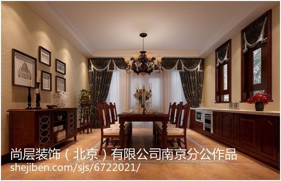 古典美式风格大别墅客厅装修图片2014