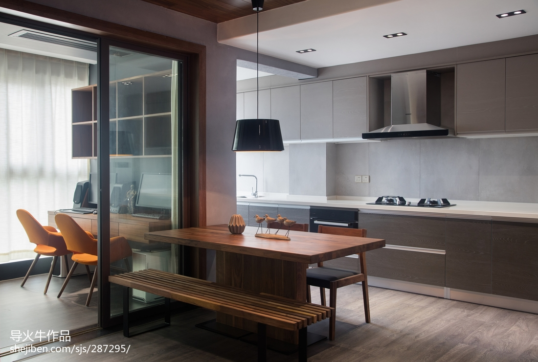 2018精选107平米三居餐厅简约装饰图片大全