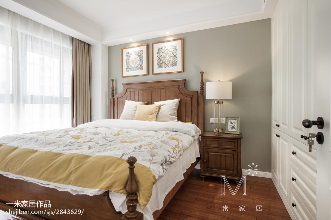 热门81平米二居卧室美式实景图