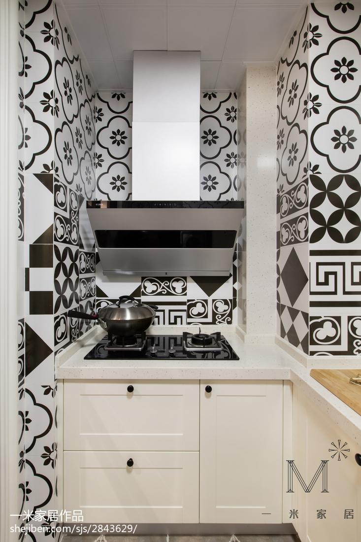优美58平美式二居厨房装修案例