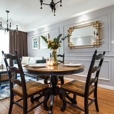 热门面积77平美式二居餐厅装修设计效果图片欣赏