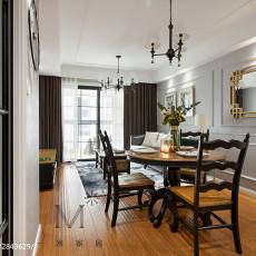 热门面积89平美式二居餐厅装修图片欣赏