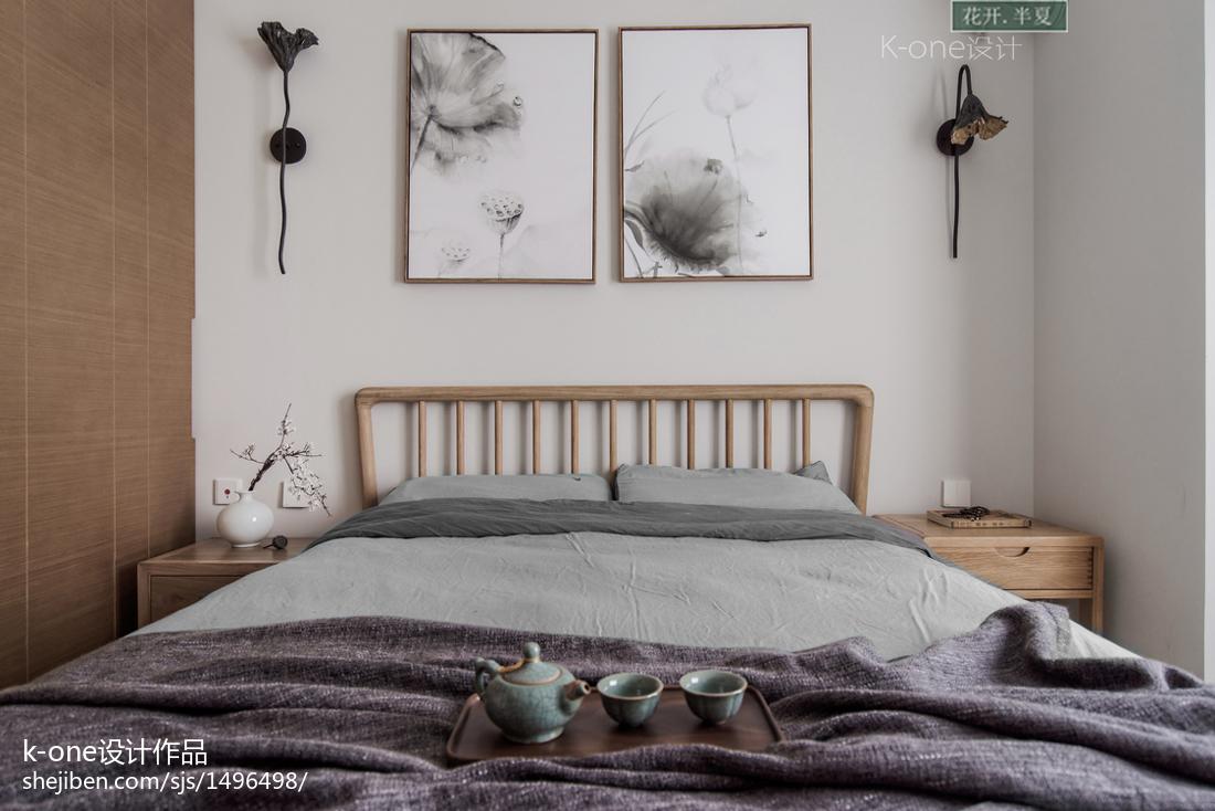 精美面积104平中式三居卧室装修效果图