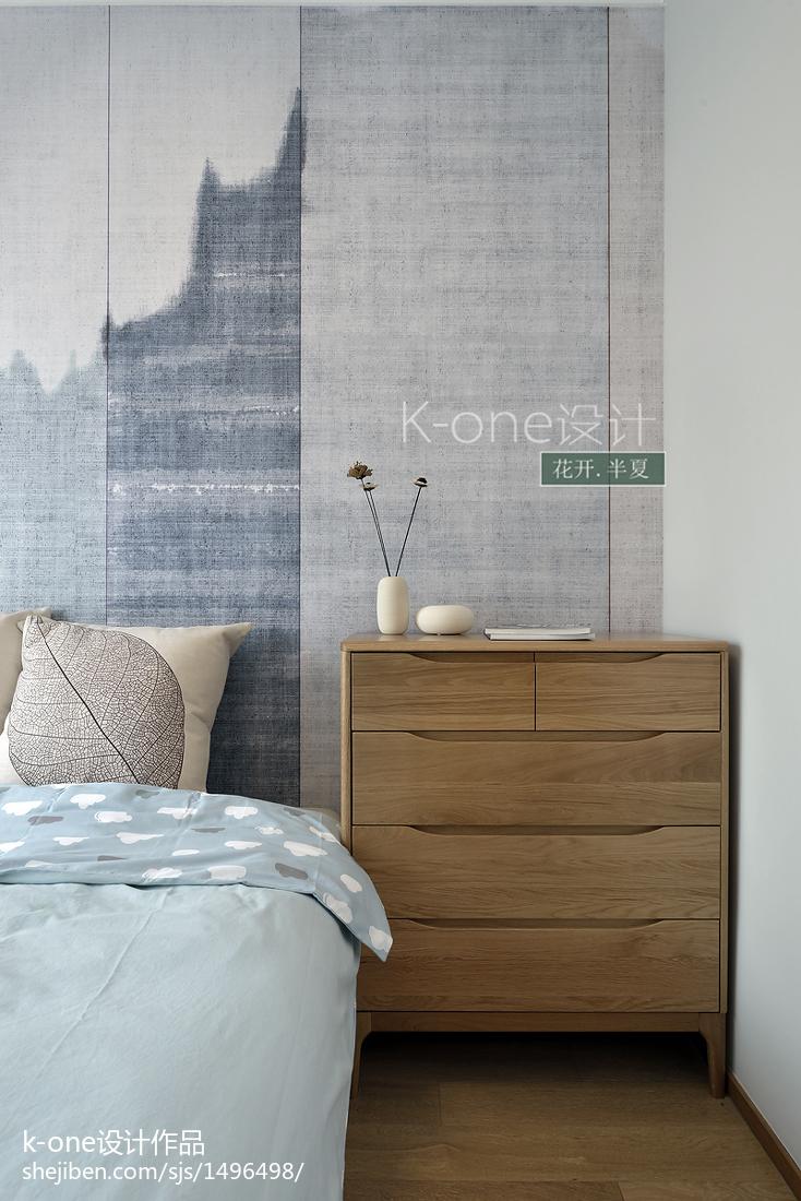 2018精选98平米三居卧室中式装修实景图片大全