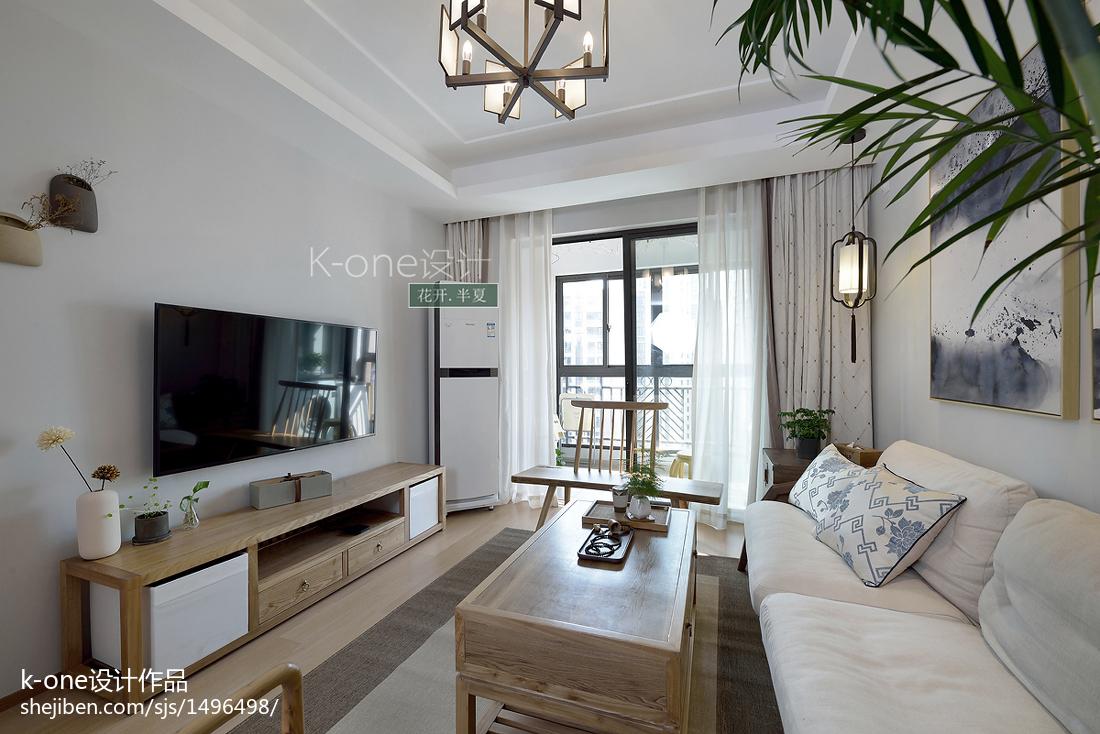 華麗125平中式三居客廳效果圖片大全