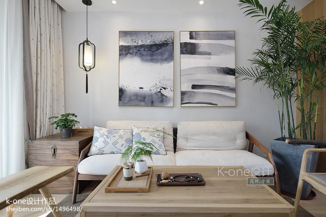 2018107平方三居客厅中式装修欣赏图片