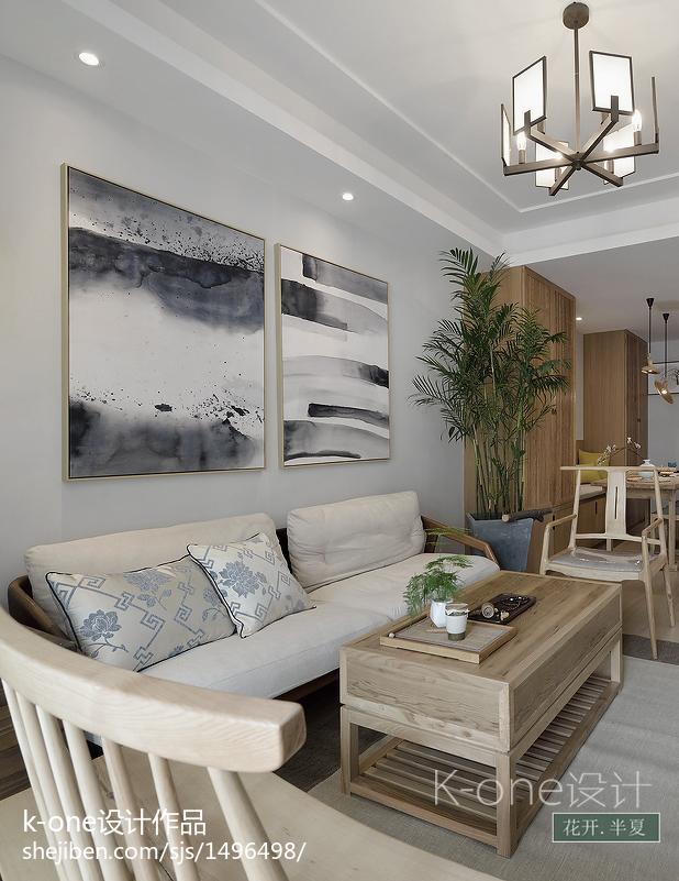 热门101平米三居客厅中式装修欣赏图