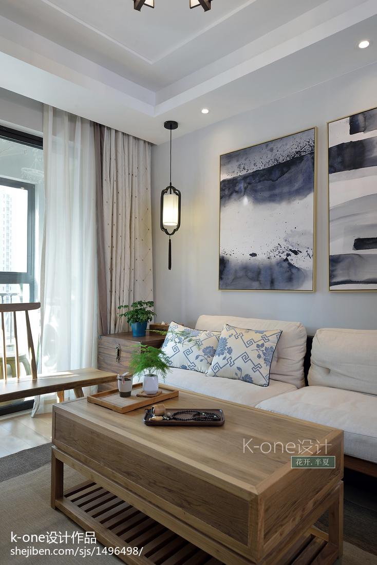 精美101平方三居客厅中式装修效果图