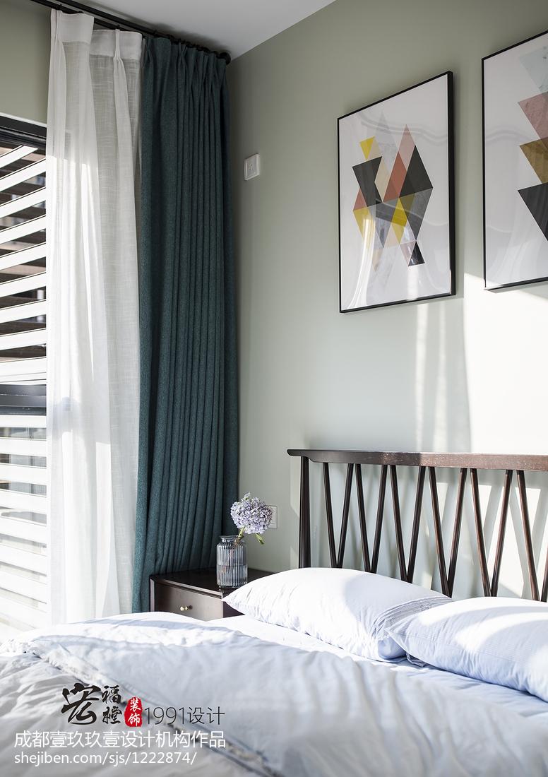 温馨72平北欧三居卧室设计美图