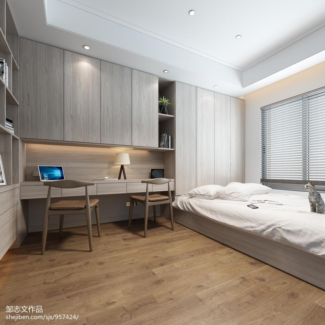 宽敞简约风格卧室装修效果图