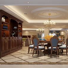 132平米欧式别墅餐厅装修实景图