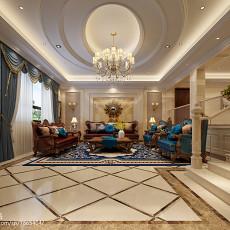 热门大小113平别墅客厅欧式欣赏图