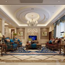 精美大小123平别墅客厅欧式效果图片欣赏