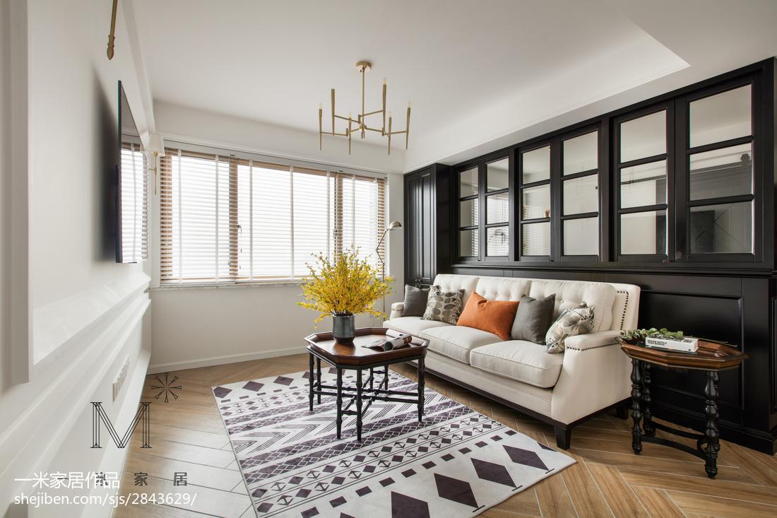 简洁116平美式三居客厅效果图片大全